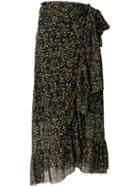 Ganni Tilden Floral Skirt - Black
