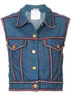 Chanel Vintage Sleeveless Denim Vest - Blue