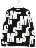 Msgm Kids Teen Logo Sweatshirt - Black