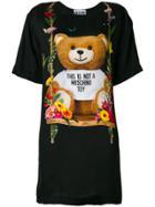 Moschino Teddy Bear T-shirt Dress - Black
