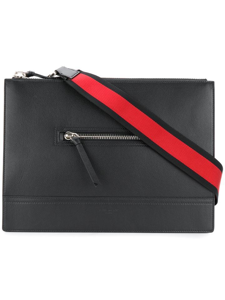 Givenchy Streamlined Messenger Bag - Black