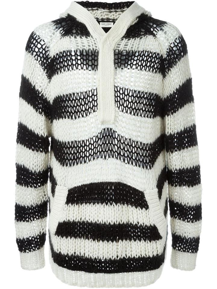 Saint Laurent Striped Hooded Sweater