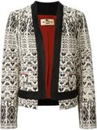 Etro Contrasted Trim Jacquard Jacket