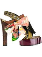 Vivienne Westwood Buckled Platform Sandals - Multicolour