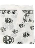 Alexander Mcqueen Chiffon Skull Scarf, Women's, Nude/neutrals, Silk