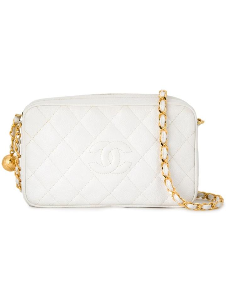 Chanel Vintage Quilted Camera Shoulder Bag