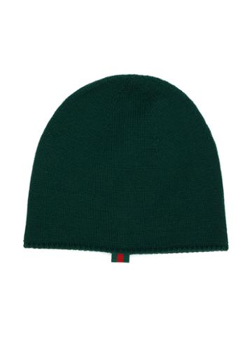 Gucci Kids - Knitted Beanie - Kids - Cotton/viscose/wool - 56 Cm, Green