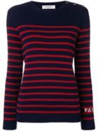 Valentino Cashmere Striped Jumper - Blue