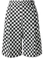 Givenchy Checkered Print Shorts - Black
