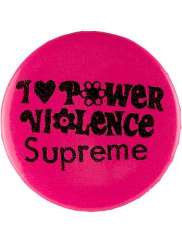 Supreme 'i Love Power Violence' Pin - Pink