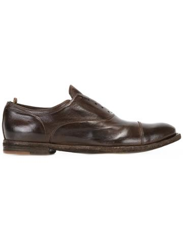 Officine Creative Ignis Laceless Oxford Shoes - Brown
