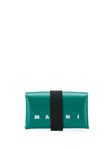 Marni Strap Detail Wallet - Green