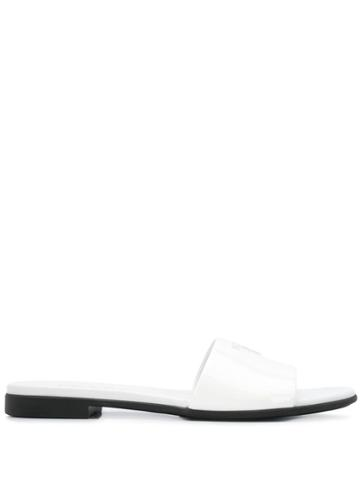 Prada Logo-embellished Slides - White