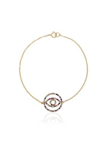 Ileana Makri Rainbow Diamond Circle Eye Bracelet - Multicoloured