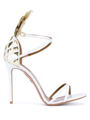 Aquazzura Pina Colada Leather Sandals