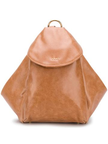 Dkny Trapeze Shaped Backpack - Brown