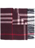 Burberry Checked Scarf, Men's, Cashmere