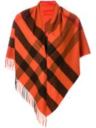 Burberry Half Mega Check Scarf - Yellow & Orange