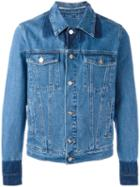 Kenzo Button-up Denim Jacket, Men's, Size: Large, Blue, Cotton/polyester