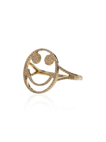 Rosa De La Cruz Smile Ring - Gold