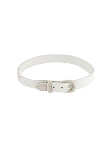 Manokhi Buckled Choker Necklace, Women's, White