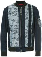 Loveless Camouflage Print Jacket - Blue