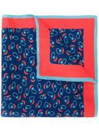 Kiton Printed Pocket Square - Blue