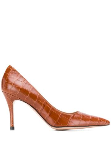 Roberto Festa Embossed New Emma Pumps - Brown