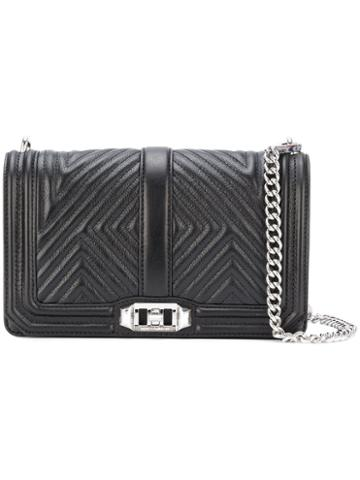 Rebecca Minkoff - Core Quilted Love Crossbody Bag - Women - Leather - One Size, Black, Leather