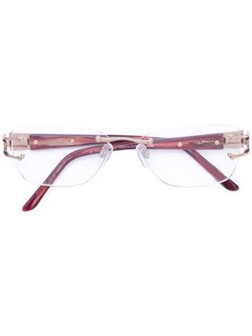 Cazal - 'westbound' Glasses - Women - Acetate/titanium - 54, Red, Acetate/titanium
