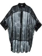 Y's Sheer Tile Print Shirt