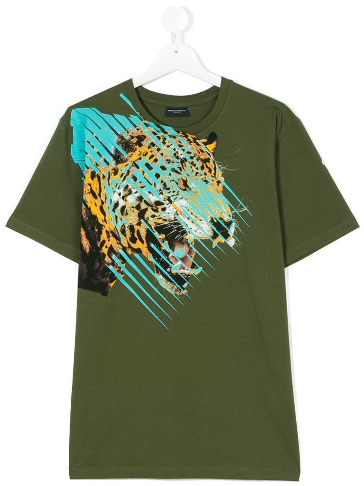 Marcelo Burlon County Of Milan Kids Printed T-shirt - Green