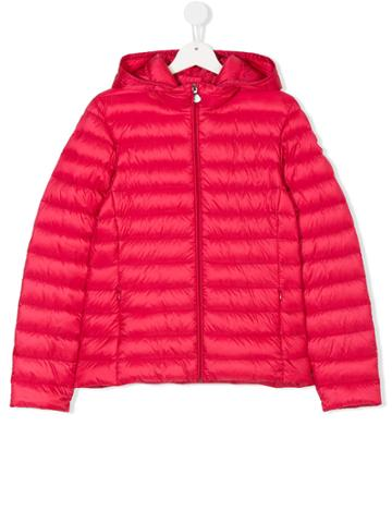Moncler Kids Padded Hooded Jacket - Pink & Purple