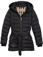 Burberry Hooded Puffer Jacket - Blue