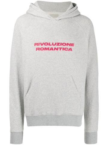 Paura Rivoluzione Romantica Hoodie - Grey