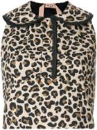 No21 Leopard Print Sleeveless Blouse - Brown
