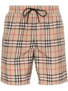 Burberry Guildes Check Swim Shorts - Brown