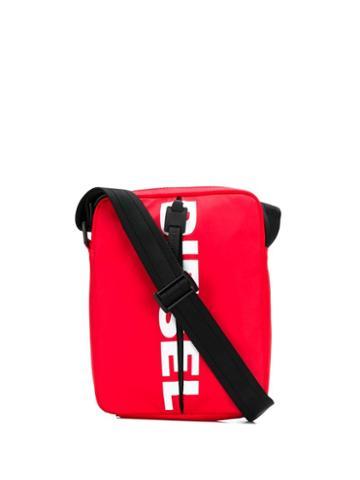 Diesel Contrast Logo Messenger Bag - Red