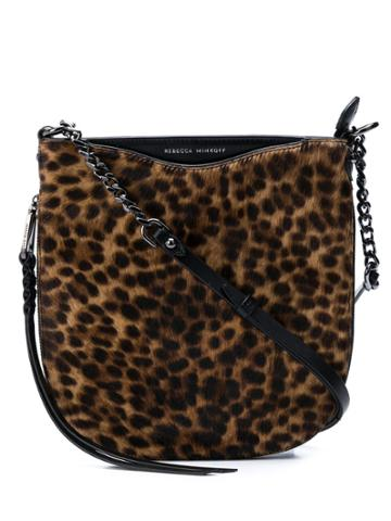 Rebecca Minkoff Leopard-print Shoulder Bag - Brown