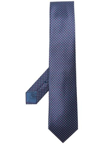 Brioni Dotted Tie - Blue
