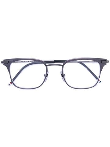 Thom Browne - Square Glasses - Unisex - Metal - 49, Grey, Metal