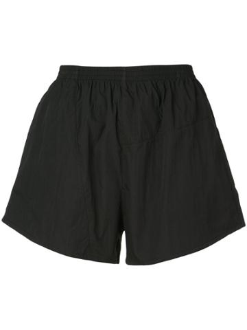Callipygian Short Track Shorts - Black