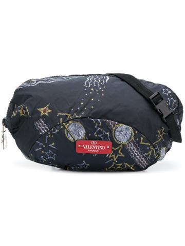 Valentino Valentino Garavani Galaxy Print Crossbody Bag - Blue