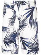 Loveless Leaf Print Bermuda Shorts - White