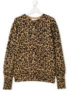 Les Coyotes De Paris Teen Leopard Print Jumper - Brown