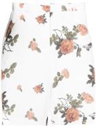 Dalood Floral Print Shorts - White