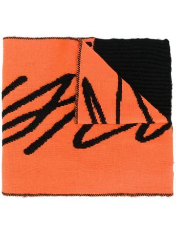 Just Cavalli Oversized Logo Scarf - Orange