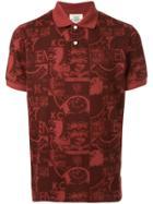 Kent & Curwen Printed Polo Shirt - Red