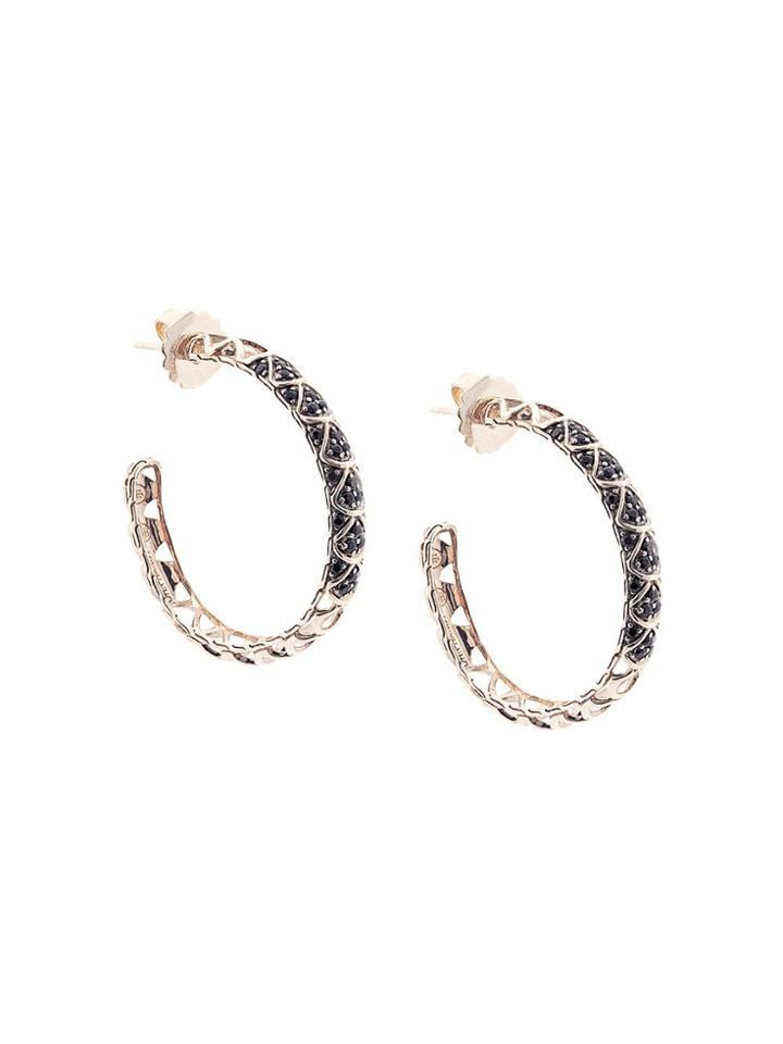John Hardy Legends Naga Sapphire Hoop Earrings - Silver