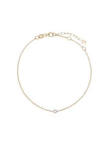 Mateo 14k Yellow Gold Single Diamond Bracelet - Metallic